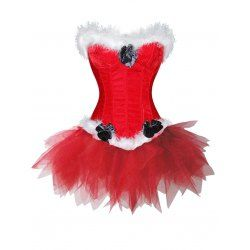 buy wholesale christmas santa claus two piece corset dress