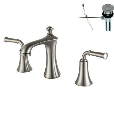 Yosemite Home Decor Double Handle Widespread Bathroom Faucet Finish Brushed Nickel Optional Bathroom Faucets Bathroom Sink Faucets