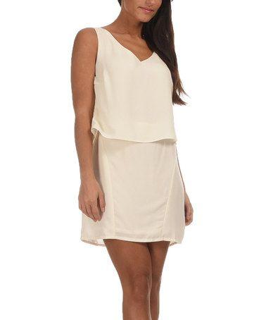 Love this Off-White Ellen Dress on #zulily! #zulilyfinds