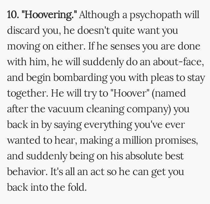 Ex narcissist hoovering