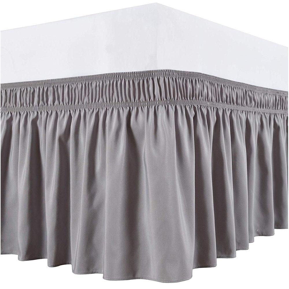 Hotel Bed Skirt Wrap Around Elastic Bed Shirts Without Bed Surface Twin Full Queen King Size 38cm Height For Home Decor White In 2021 Wrap Around Bed Skirt Dust Ruffle Bedskirt