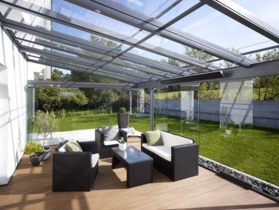faites un toit en verre pour votre terrasse moderne terrasse lunettes et bricolage. Black Bedroom Furniture Sets. Home Design Ideas