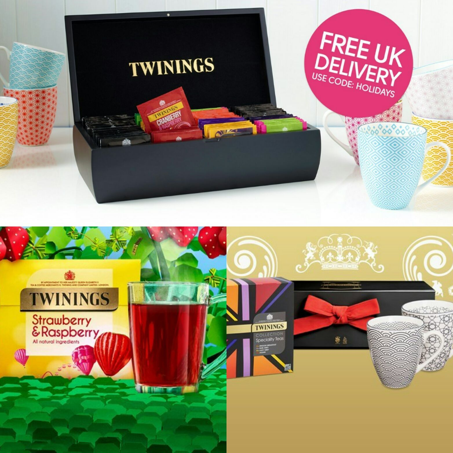 Enjoy Refreshing Tea with Free Delivery Over £10 – enter code: HOLIDAYS available at Twinings Valid from: 27 April - 1st May 2017 https://goo.gl/hlk50y