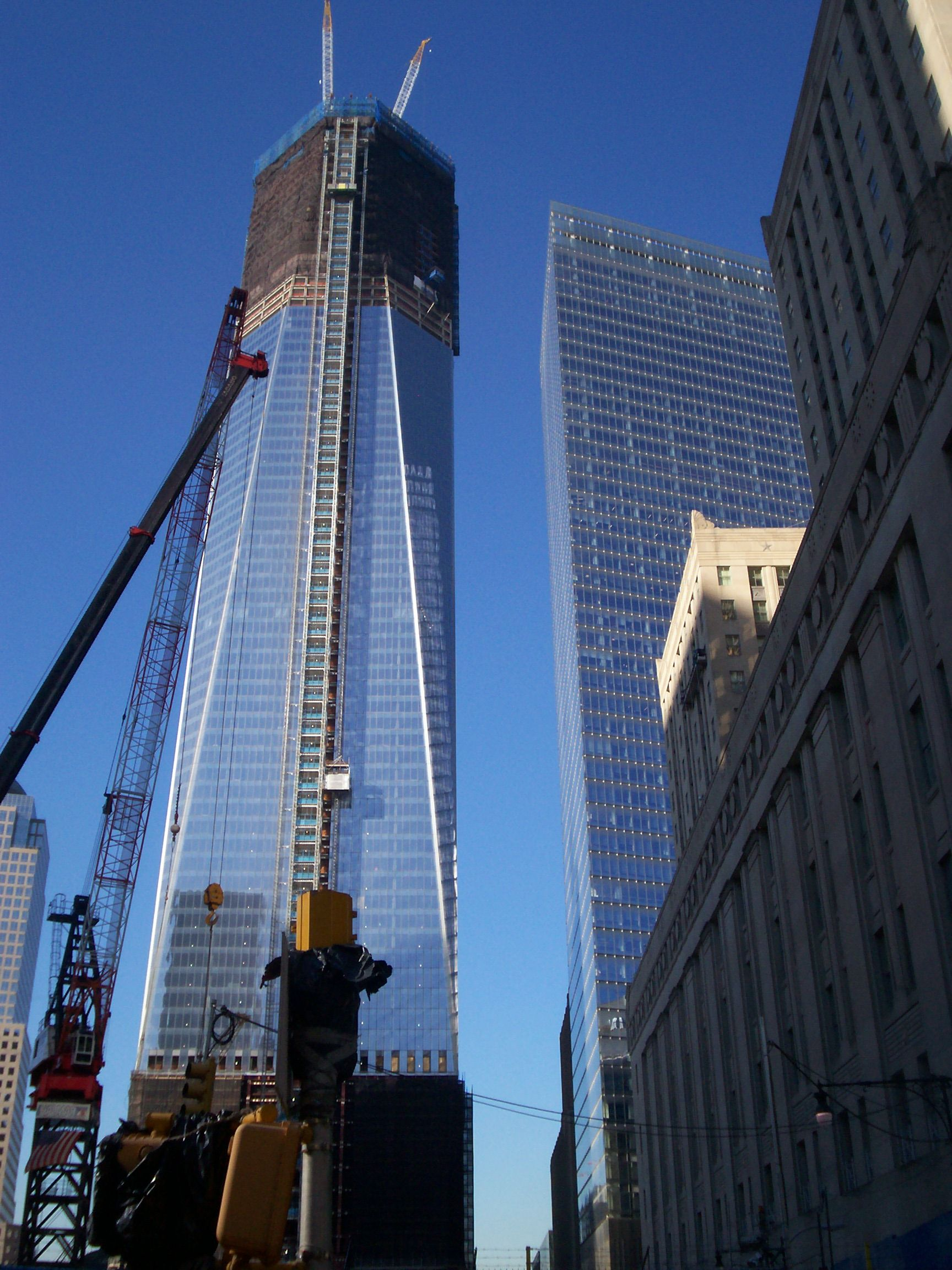 The Freedom Tower being built in New York...it was an ...