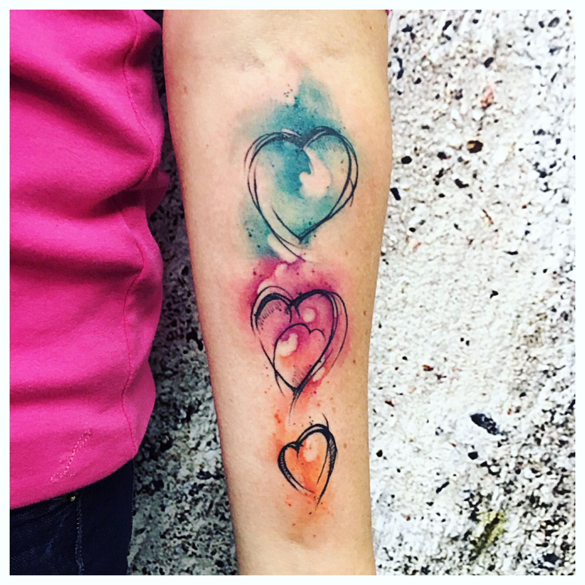 Watercolor Tattoo Hundertfarben Flensburg Watercolor Heart