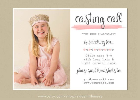 Model Call Template Photography Casting Call Photography Model Call Template Model Call Model Photography Casting Call