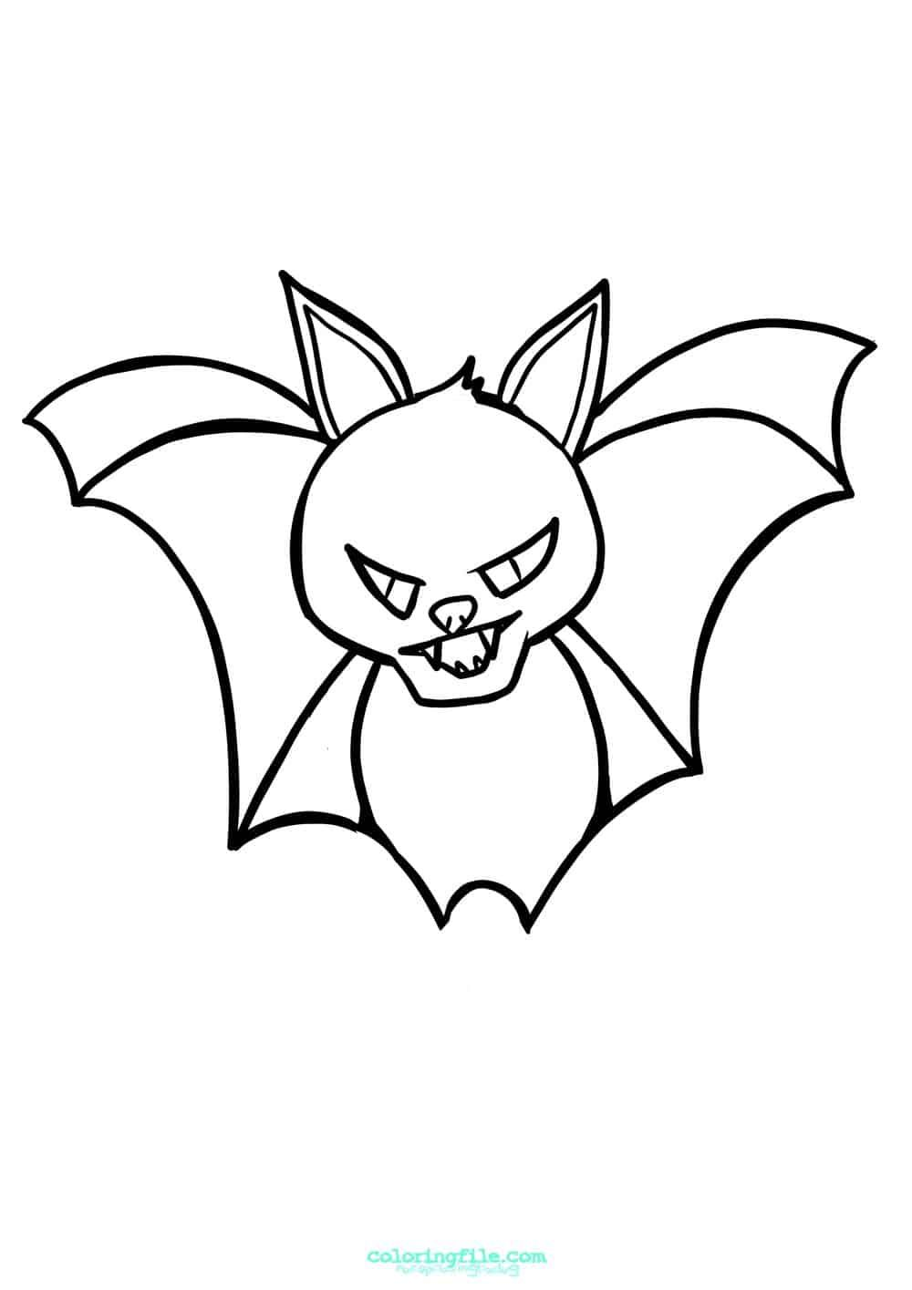 Halloween Baby Bat Coloring Page Halloween Coloring Pages Halloween Coloring Pages Printable Halloween Coloring
