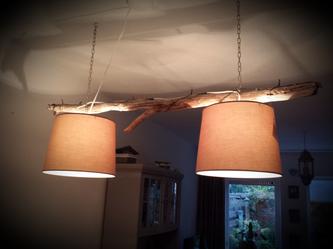 Stappenplan voor het maken van een takkenlamp, #lamp, #hout, #tak ...