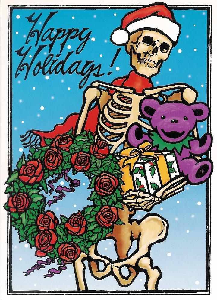 Grateful Dead - Skeleton Holiday Card | Grateful Dead | Pinterest ...