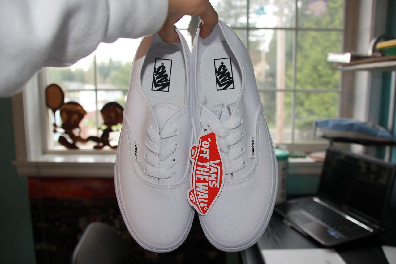 vans authentic white tumblr
