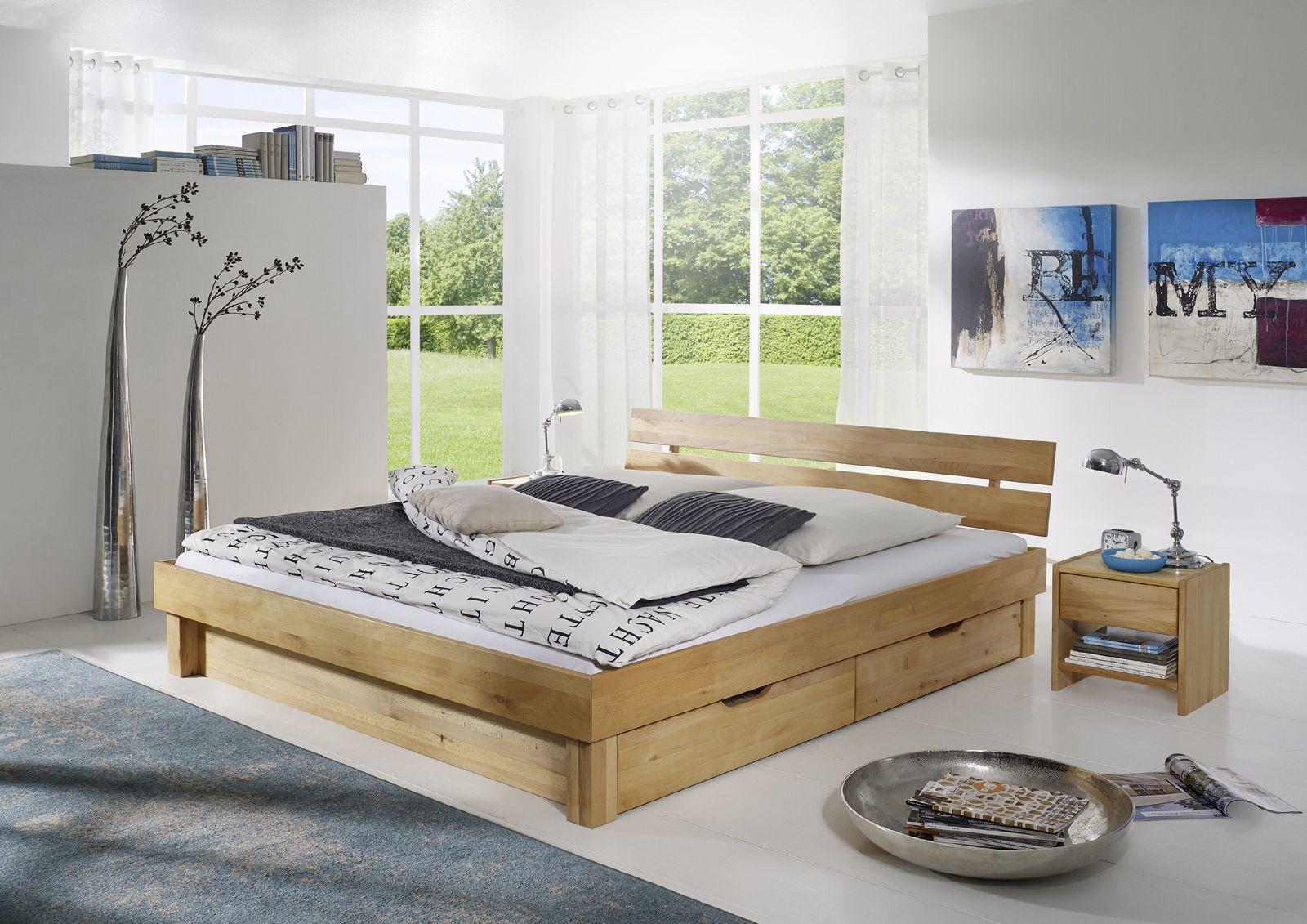 Sam Massivholzbett 160 Cm Geteilt Kernbuche Bettkasten Campino Home Bed Furnishings