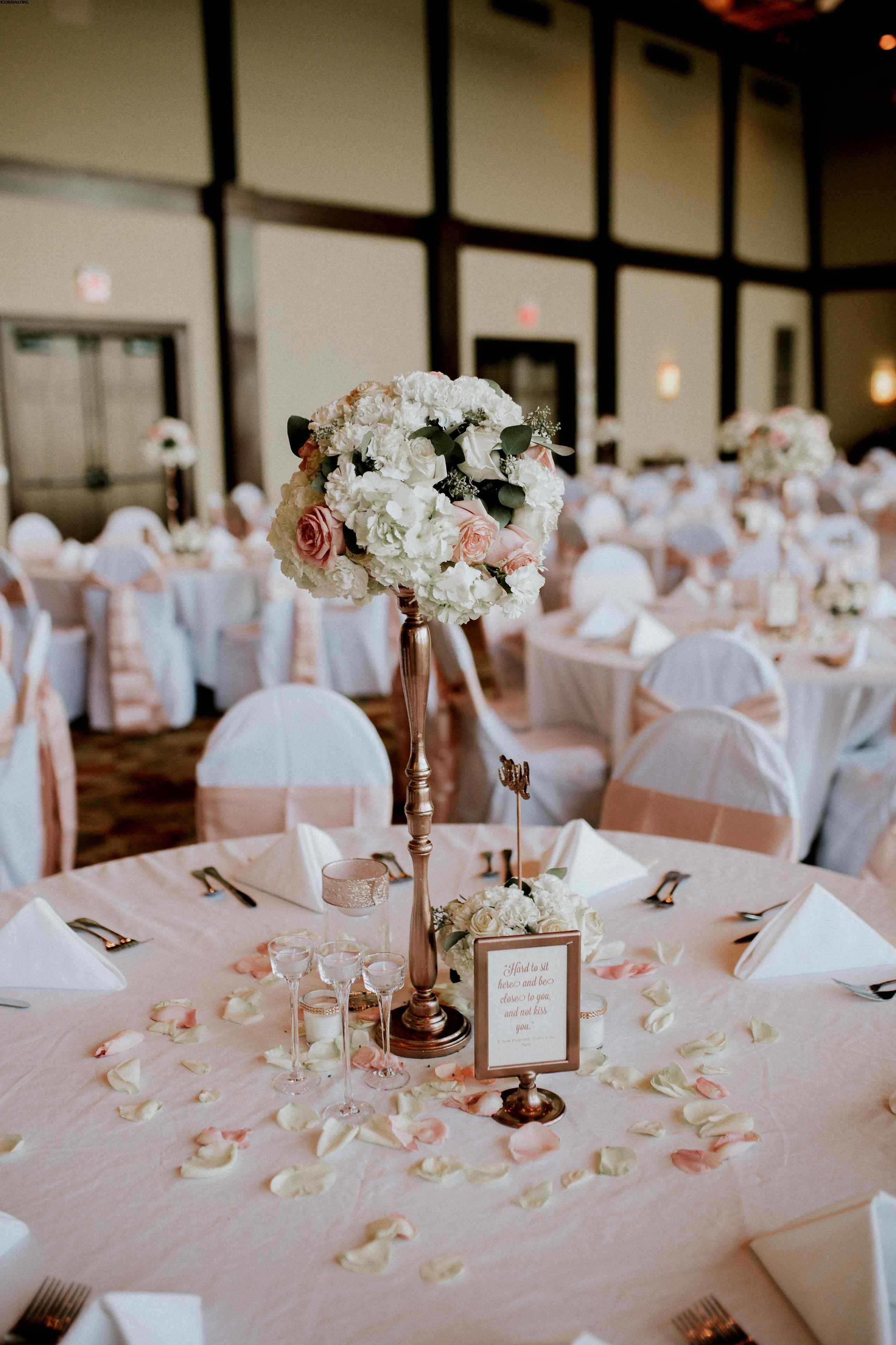 Wedding Decorations Rose Gold 36 ideas to fresh rose gold and rustic wedd…  | Wedding table settings diy, Diy wedding flower centerpieces, Silver wedding  decorations