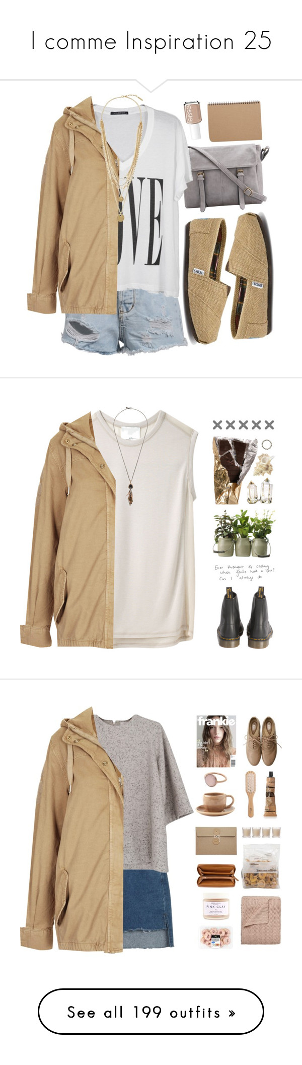 """I comme Inspiration 25"" by vicky-soleil ❤ liked on Polyvore featuring outerwear, jackets, coats, coats & jackets, sand, lightweight jacket, short parka, topshop parka, brown jacket and lightweight cotton jacket"