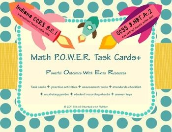 Math POWER Task Cards+ for Addition and Subtraction