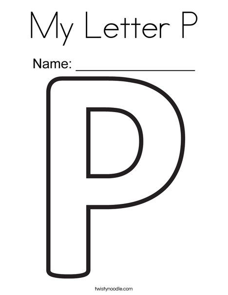 My Letter P Coloring Page  Twisty Noodle  Letter Coloring Pages