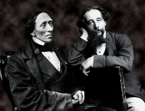 Charles Dickens with H.C. Andersen, the 'bony bore', circa 1847 ...