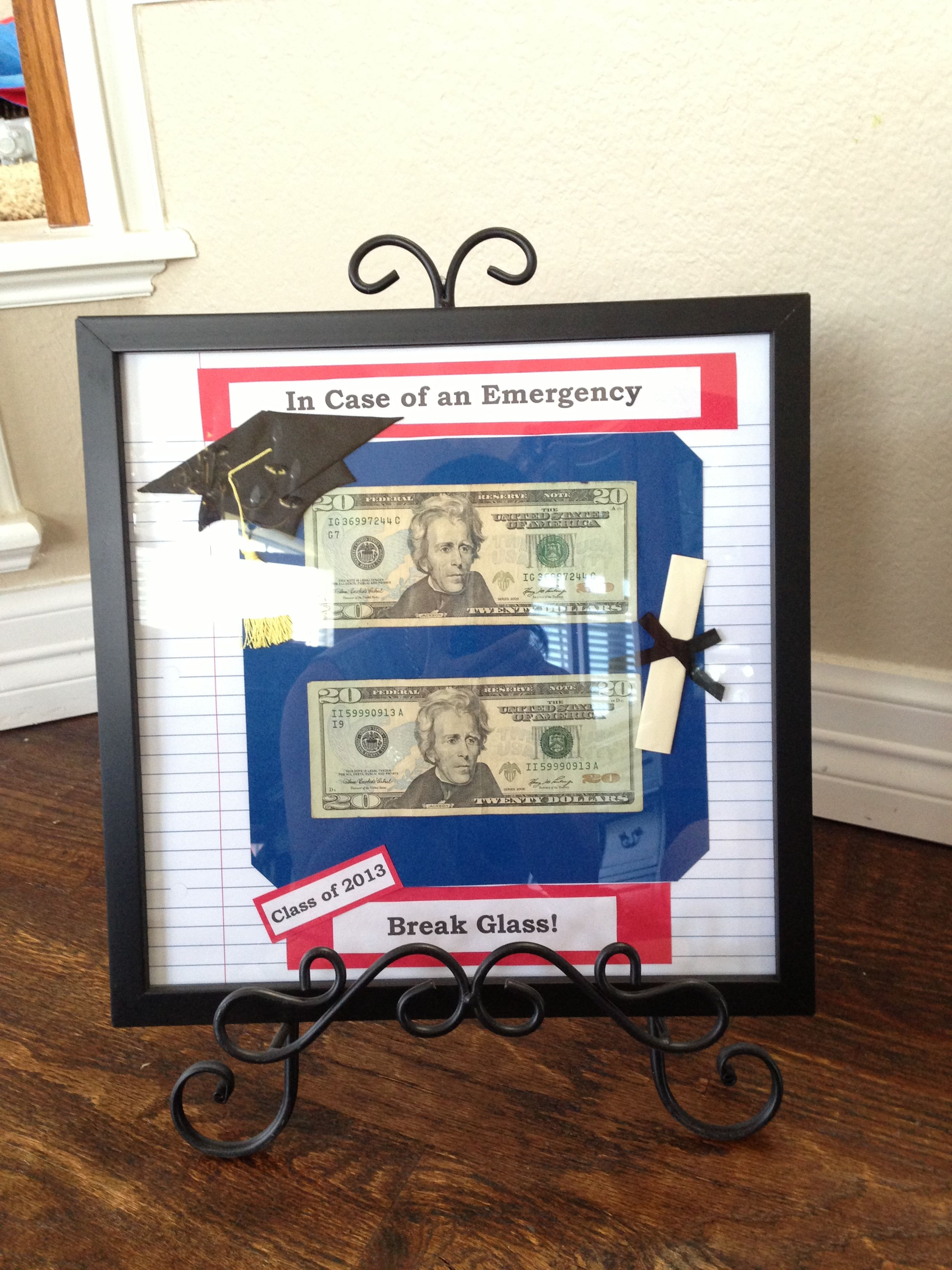 In Case Of An Emergency Break Glass Cute Gift Presentation For