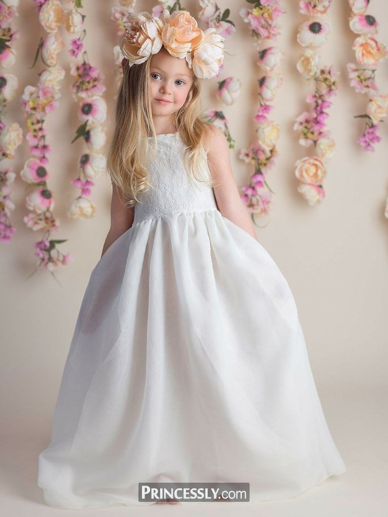 The best ivory flower girl dresses ideas for a fairytale forest