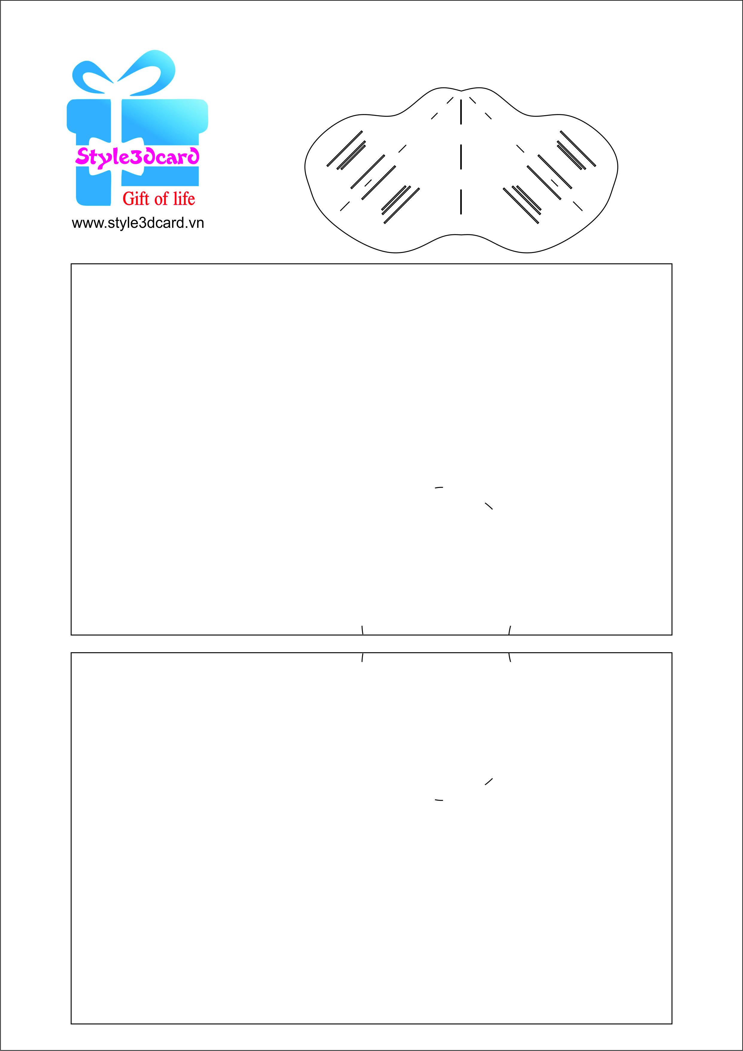 Fall Bear Pop Up Card greeting card Pattern kirigami 1