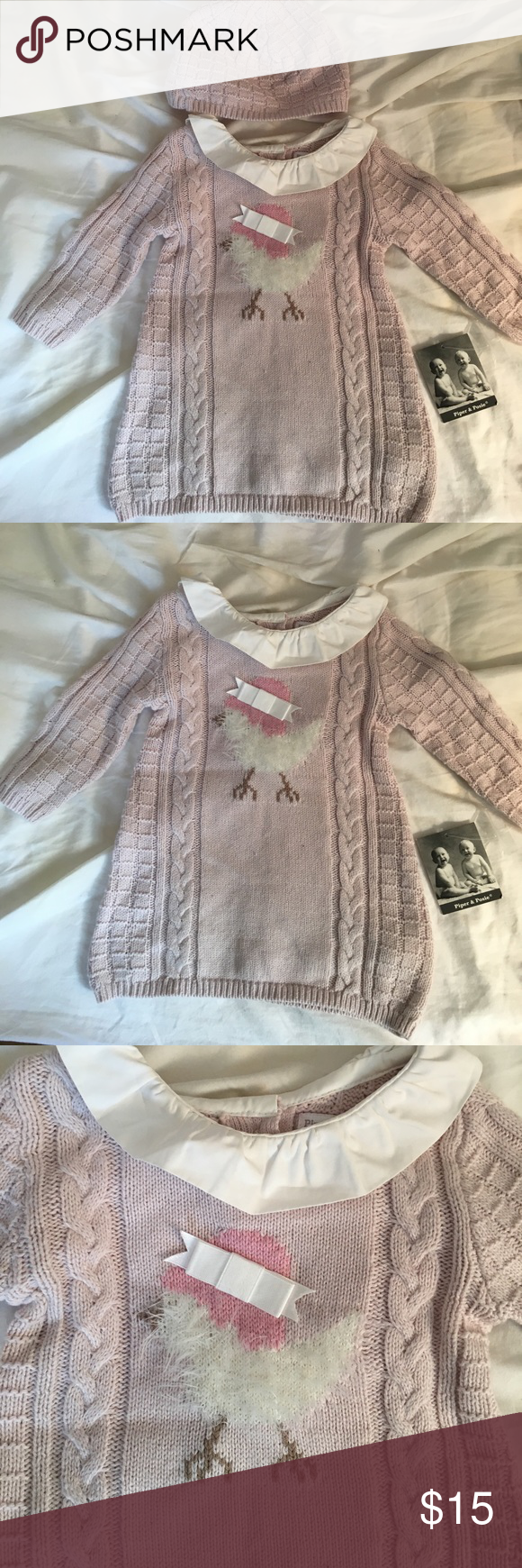 Piper And Posie Baby Girl 0 3 Months Sweater Hat Nwt Sweater Hat