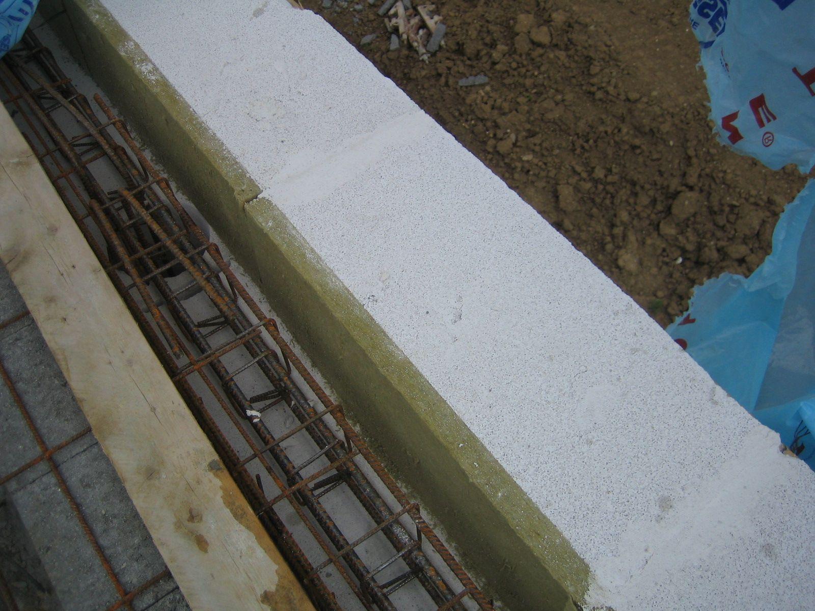 Preparation De La Dalle De L Etage Beton Cellulaire Dalles Laine De Roche