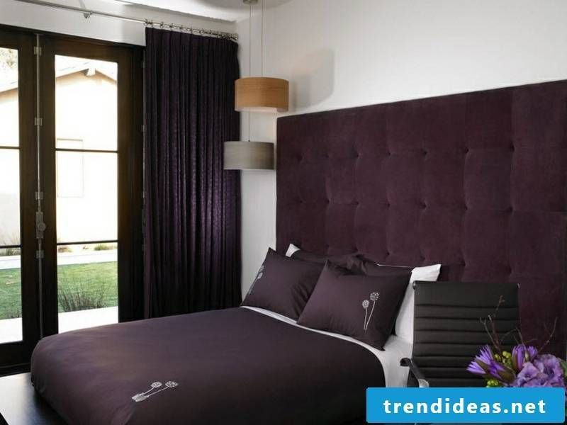 Purple Window Curtains For Living Room And Bedroom #Interior Design |  Designer Stylish Bedroom With