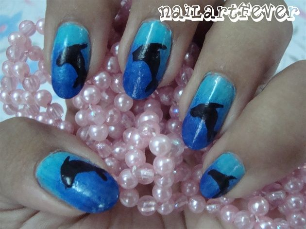 Dolphin nails ! - Nail Art Gallery by NAILS Magazine - Nailed It NZ: Dolphin Nails (with Tutorial) NAILS: Inspiration