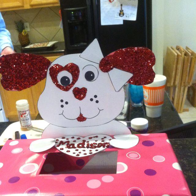 Madison's valentine box we made today