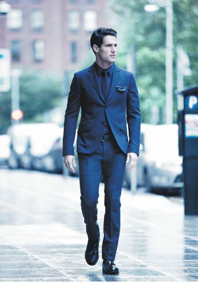 reputable site 91da2 a44da blauer anzug schwarzes hemd dunkel | Fashion | Grauer anzug ...