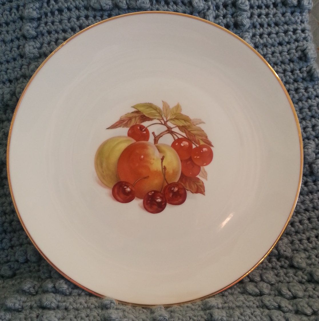 Vintage Bareuther Waldsassen plate 174 - 12\  Dinner Plate with Fruit Design - Collectible Plate & Vintage Bareuther Waldsassen plate 174 - 12\