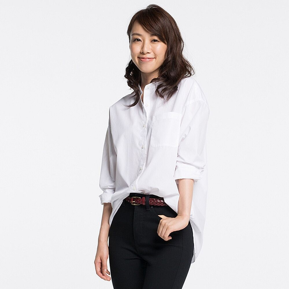 8fe44390 UNIQLO WOMEN EFC OVERSIZED STAND COLLAR LONG SLEEVE SHIRT | My Style ...