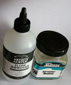 An Introduction to the Various Types of Acrylic Mediums for Painting: Acrylic Mediums for Dispersing Paint (Flow Mediums)
