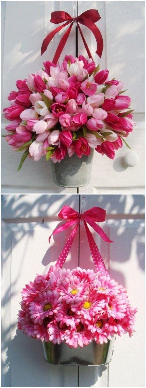 Decorazioni floreali primaverili fai da te da appendere for Decorazioni fai da te