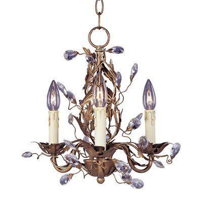 Elegante 3 Light Chandelier