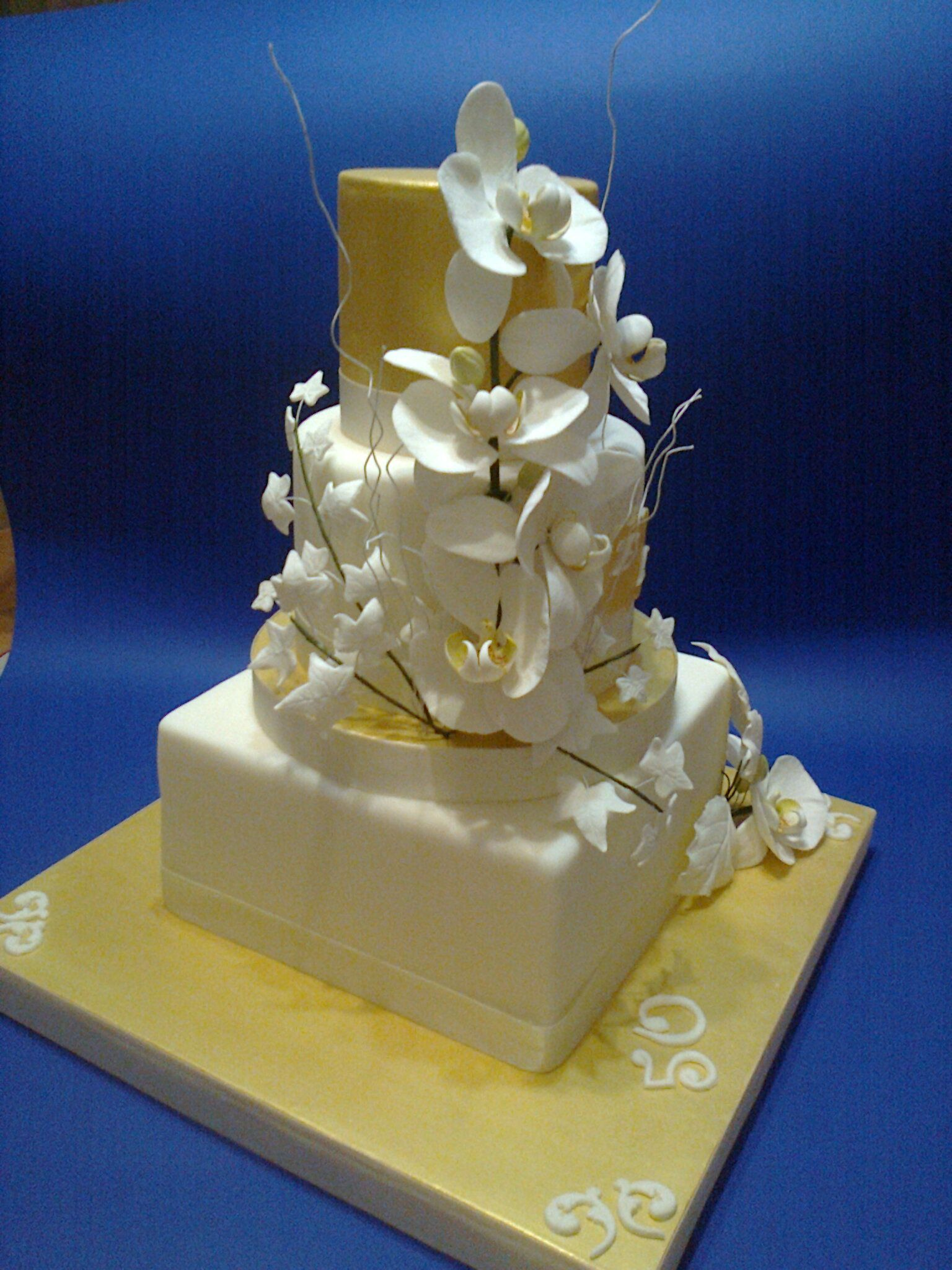 Torte decorate nozze d 39 oro le mie creazioni - Torte salate decorate ...