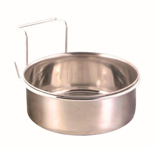 Trixie Stainless Steel Bowl with Holder, 14 cm Dia @ £4.8