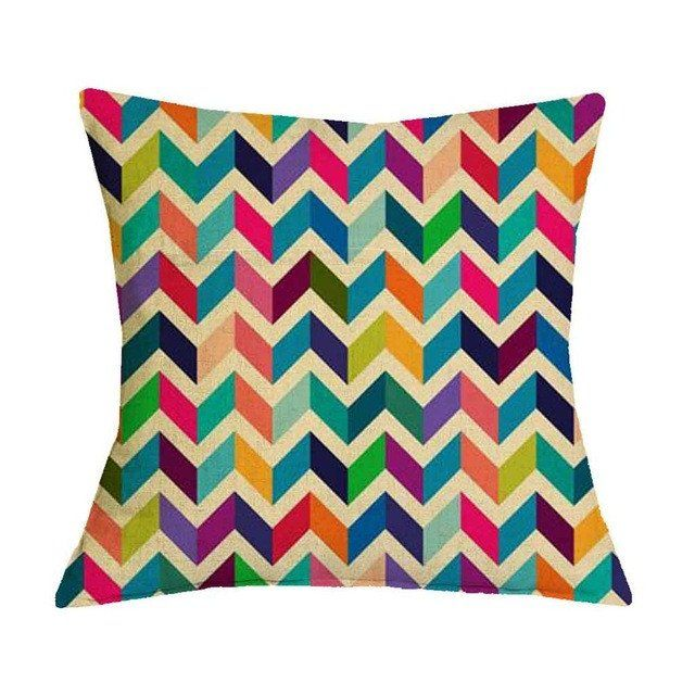 Colorful Waves Geometric Graphic Pattern Pillow Case