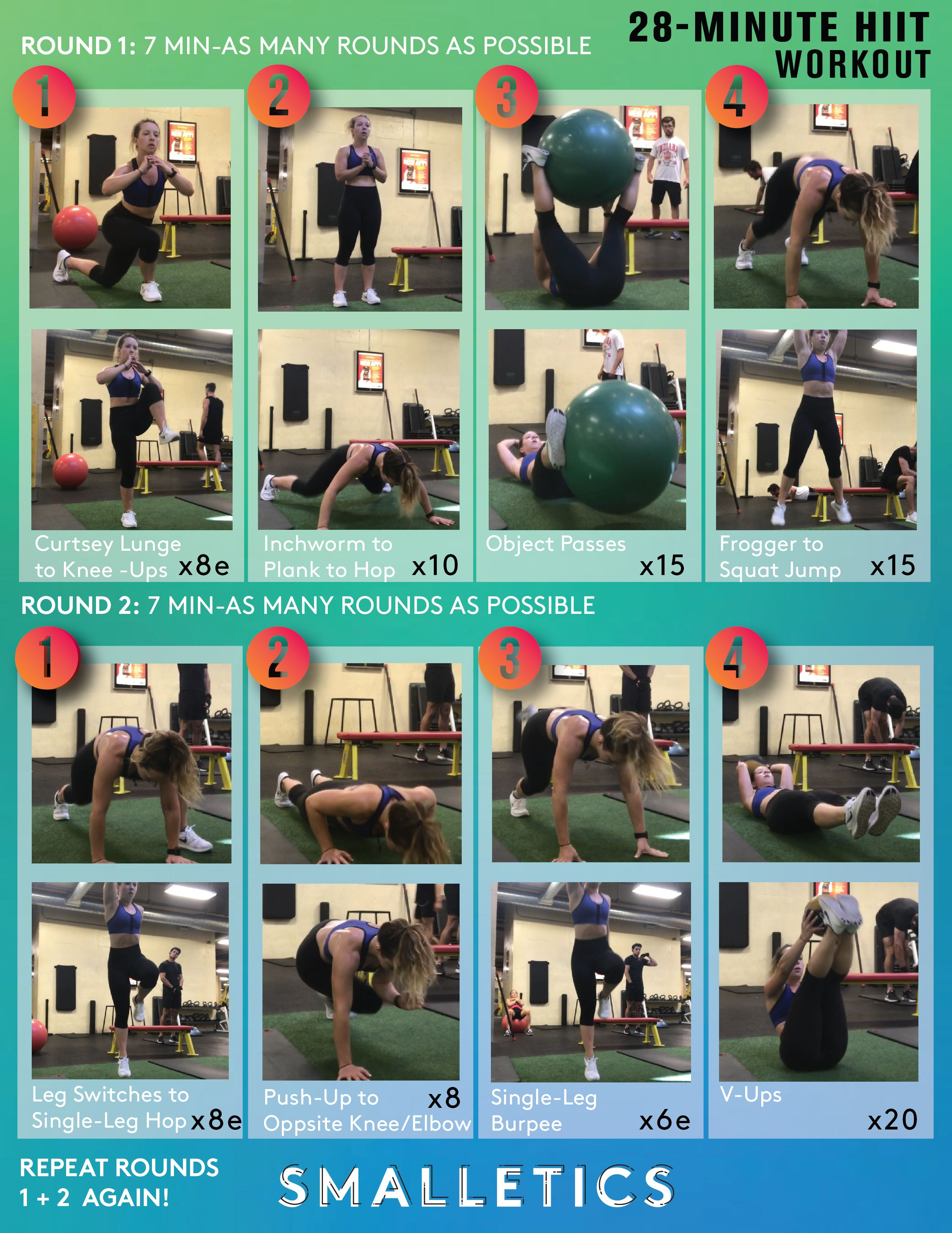 28 Min Fun And Creative At Home Vacation Workout No Gym Equipment Needed Click To See Videos Of The Exercises And Modifications As Well As Why Hiit Is