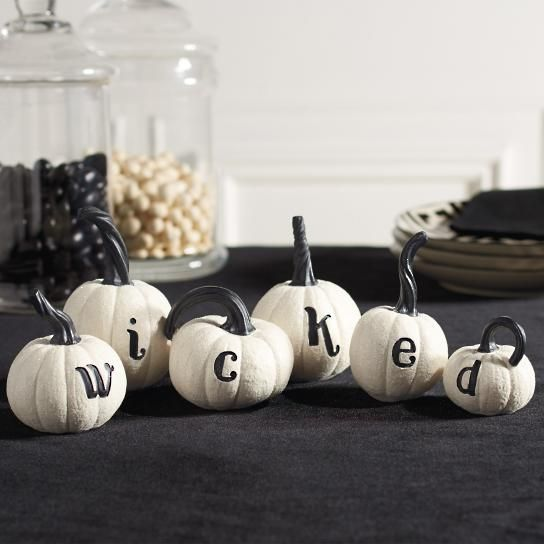 Wicked Pumpkins, Set of Six Raven ~ Nevermore ~ Edgar Allan Poe - halloween decorations to make on your own