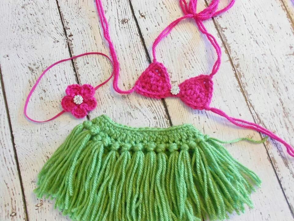 Crochet Hula Outfit - Need to find this pattern | Crochet | Pinterest