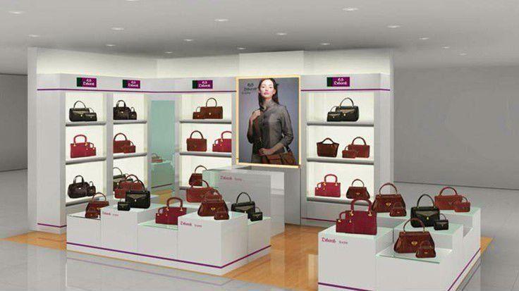 Оформление бутиков с сумками