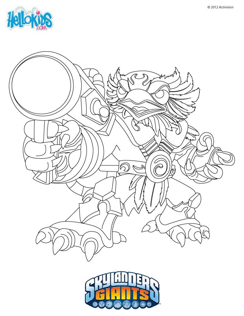 Jetvac coloring page from Skylanders Giants coloring pages Video
