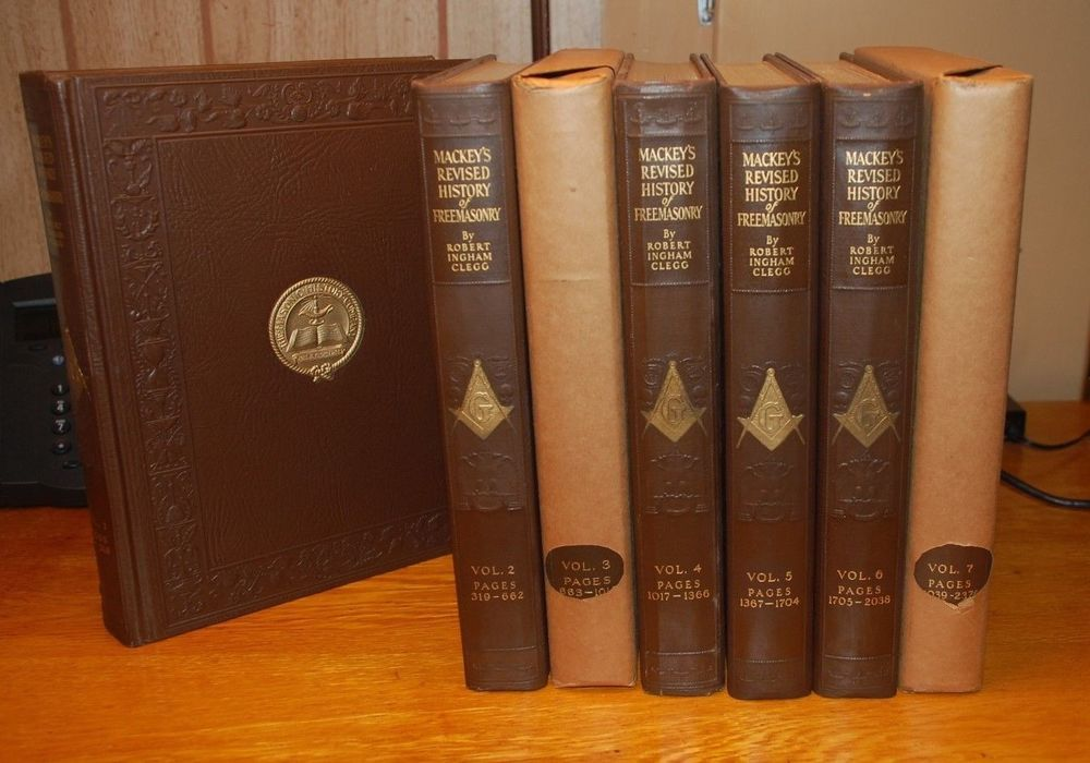 1921 MACKEY'S REVISED HISTORY OF FREEMASONRY 7 Vol / Robert