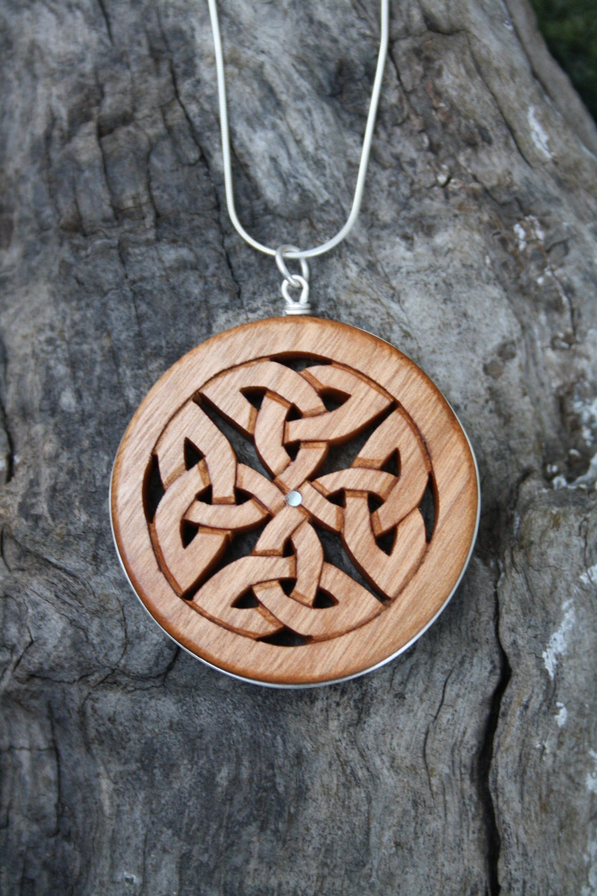Celtic Infinity Knot Necklace On Sterling Silver, Hand