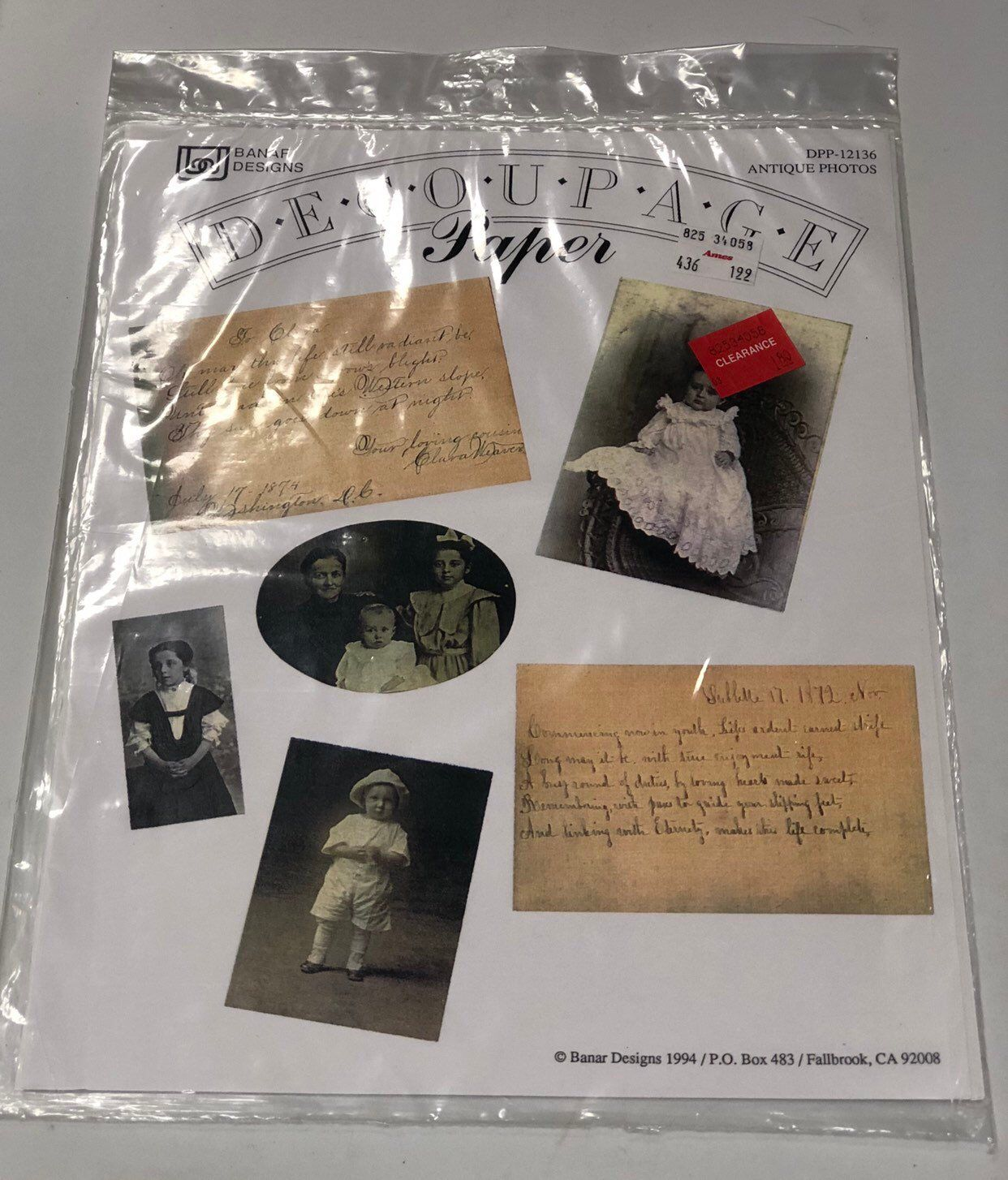 Excited To Share This Item From My Etsy Antique Photo Paper 4 Genuine Vintage Decoupage Dpp 12136