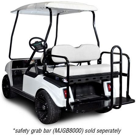 Club Car DS Golf Cart Rear Seat Kit- White | Custom Golf Carts ...