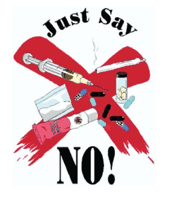 Just Say No Poster Classroom Freebies Cara Menggambar Orang Animasi Kertas Dinding