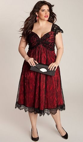 Maroon And Black Plus Size Dress For Special Occasions Httpwww