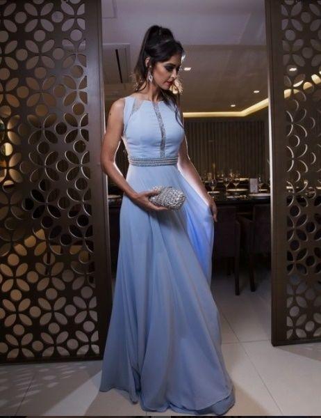 Vestido azul claro pinterest