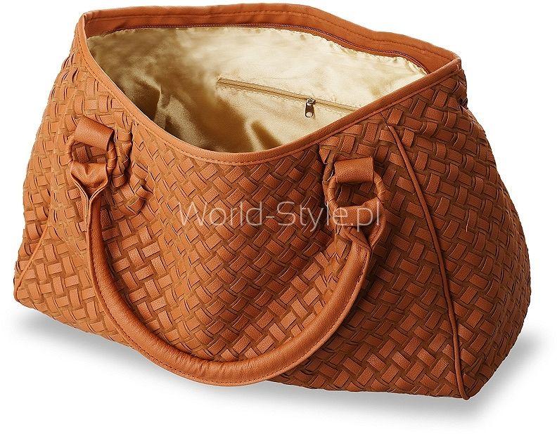78d5533f6e2 MODNA PLECIONA TOREBKA DAMSKA – CAMEL - Galanteria skórzana - torebki  damskie, portfele, teczki